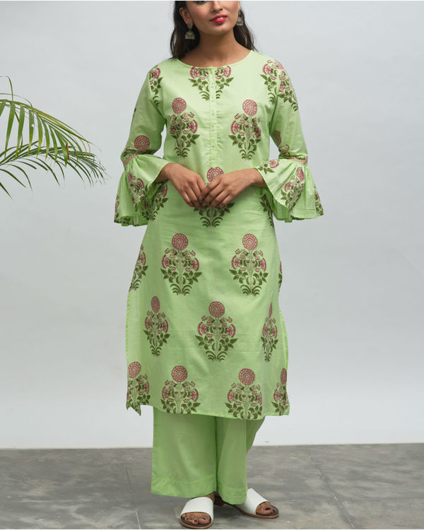 Shiva cafe hand block printed kurta pant set