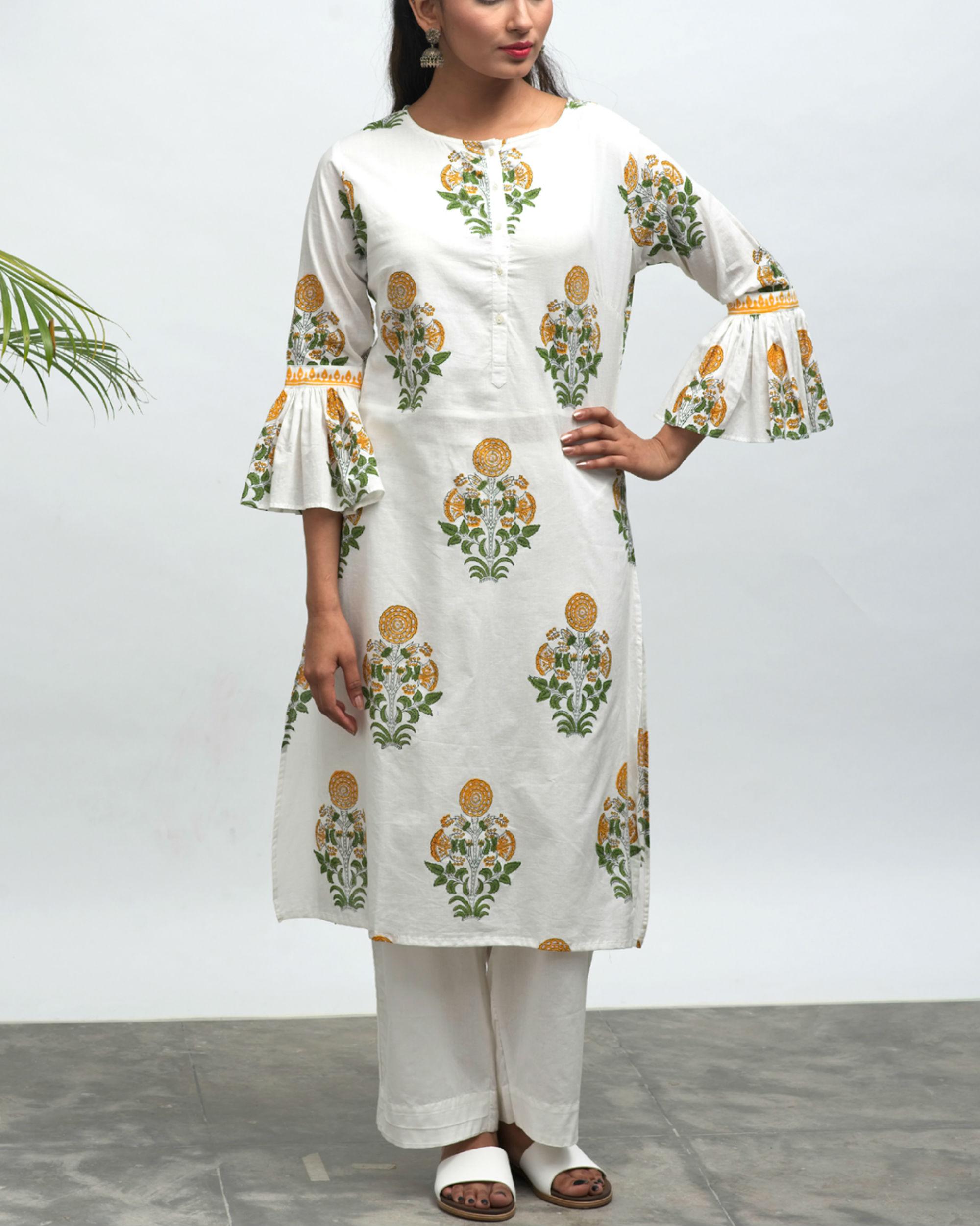 Roohi hand block printed kurta pant set