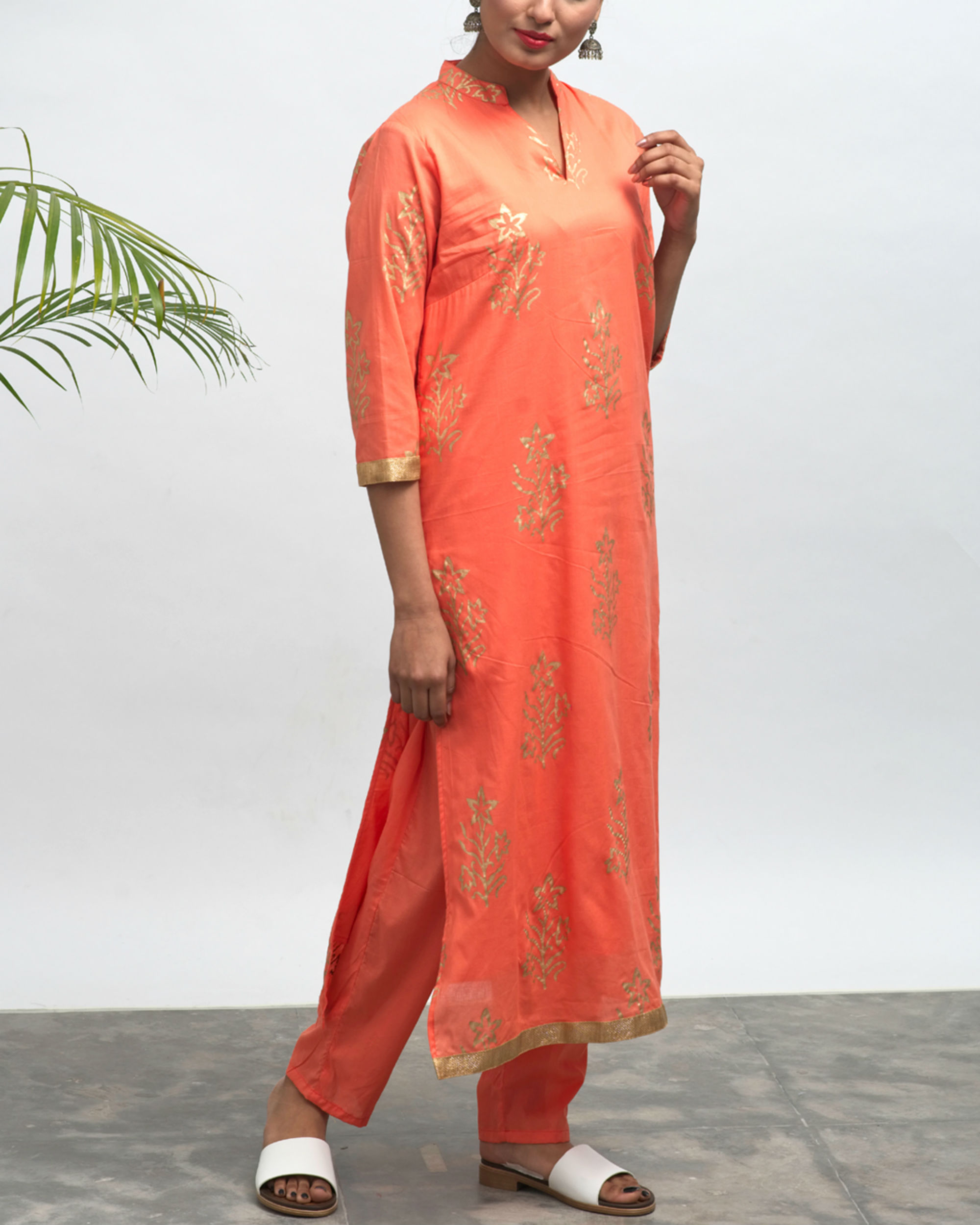 Bianca hand block printed kurta pants set