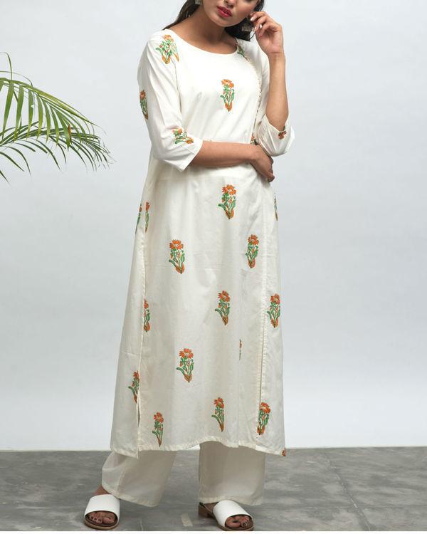 Nilofer hand block printed kurta pants set