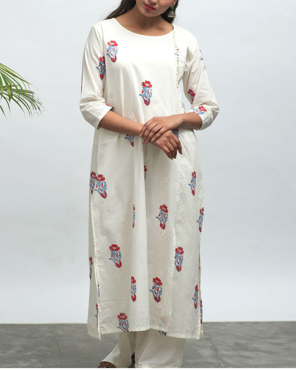 Koi hand block printed kurta pants set