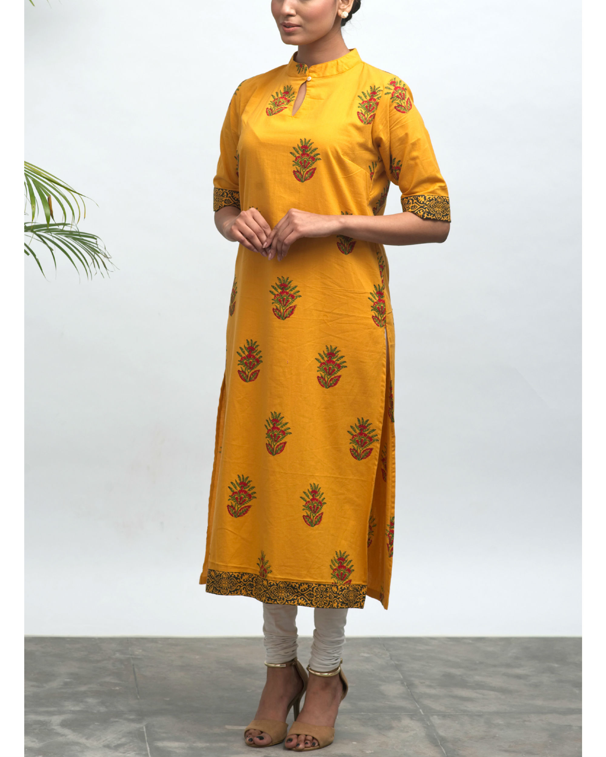 Kriya hand block printed kurta
