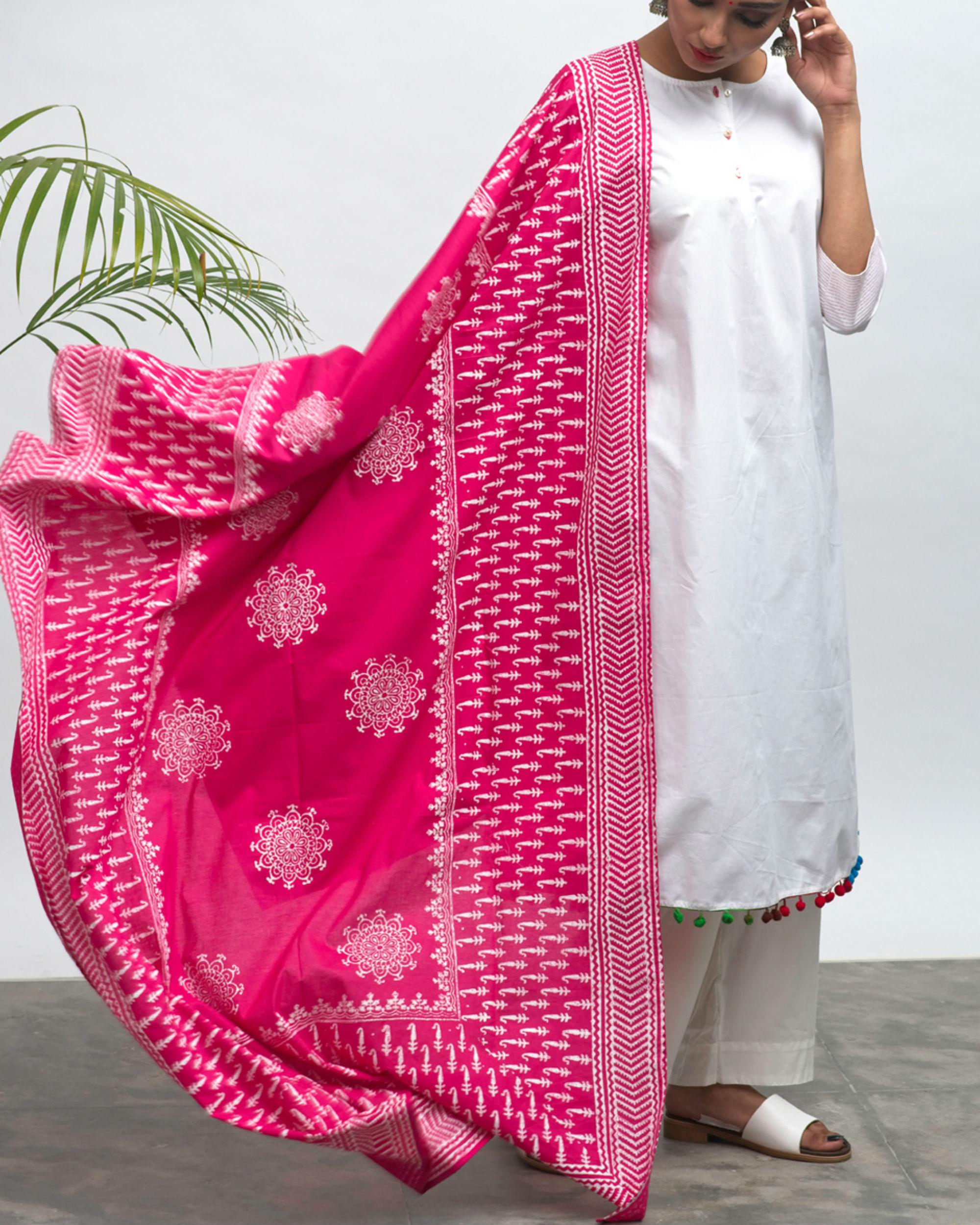 Maharani kurta pants and dupatta set