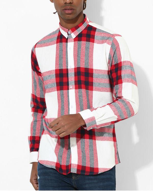 Big checks red & white