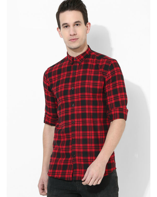 Tartan Checks Red & Black shirt