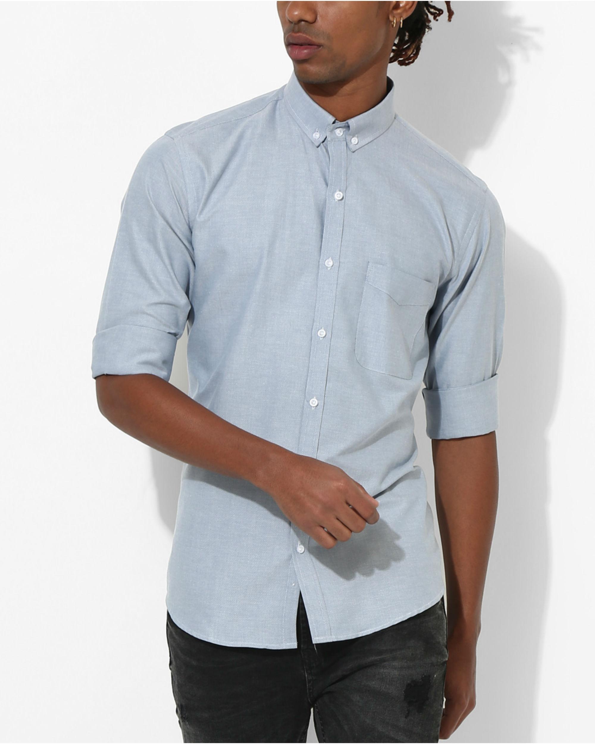 Oxford Sky Blue Slim Shirt