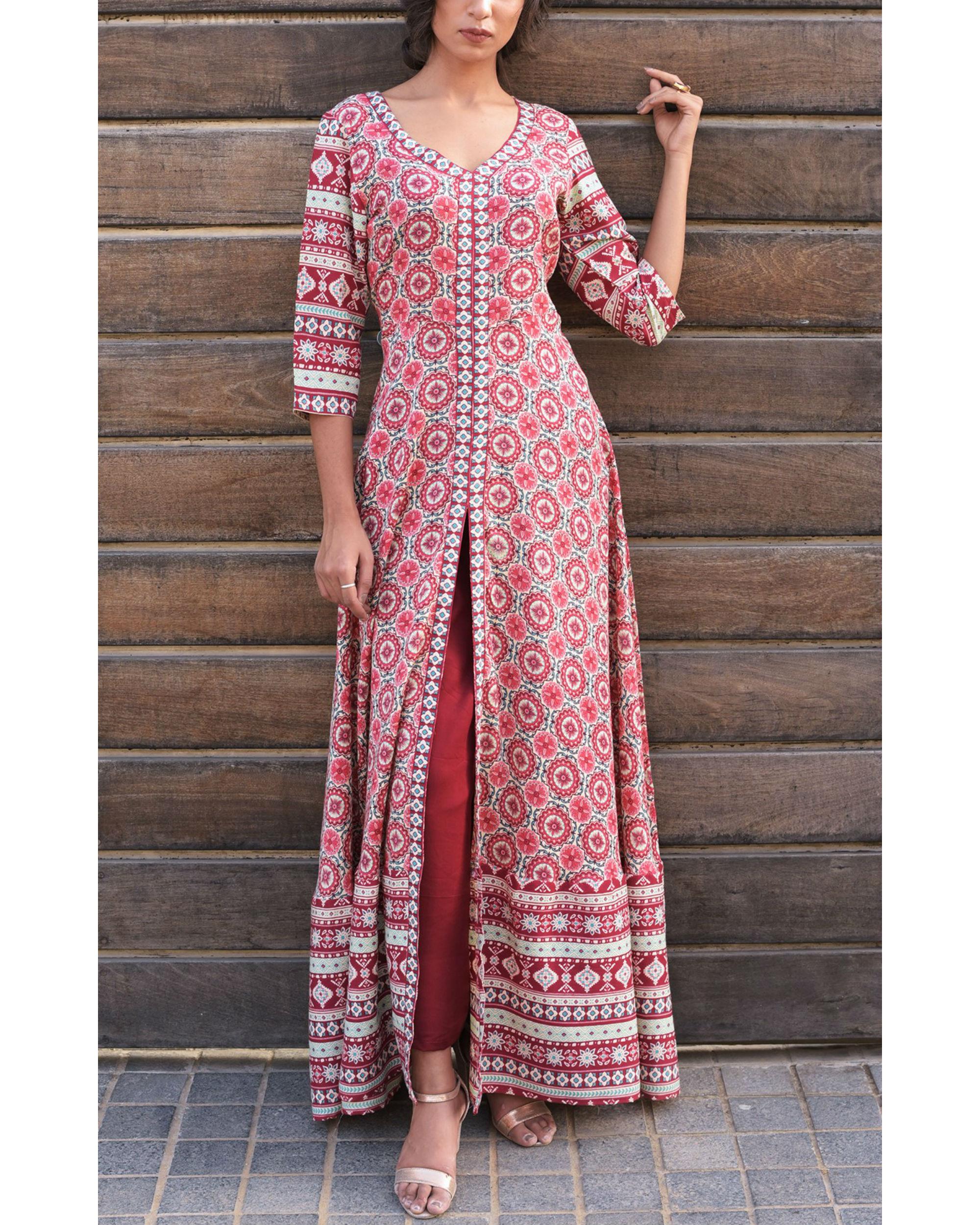 Rose pink mughal set