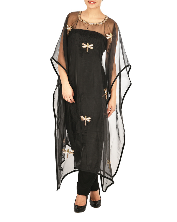 Jumpsuit with dragon fly cape