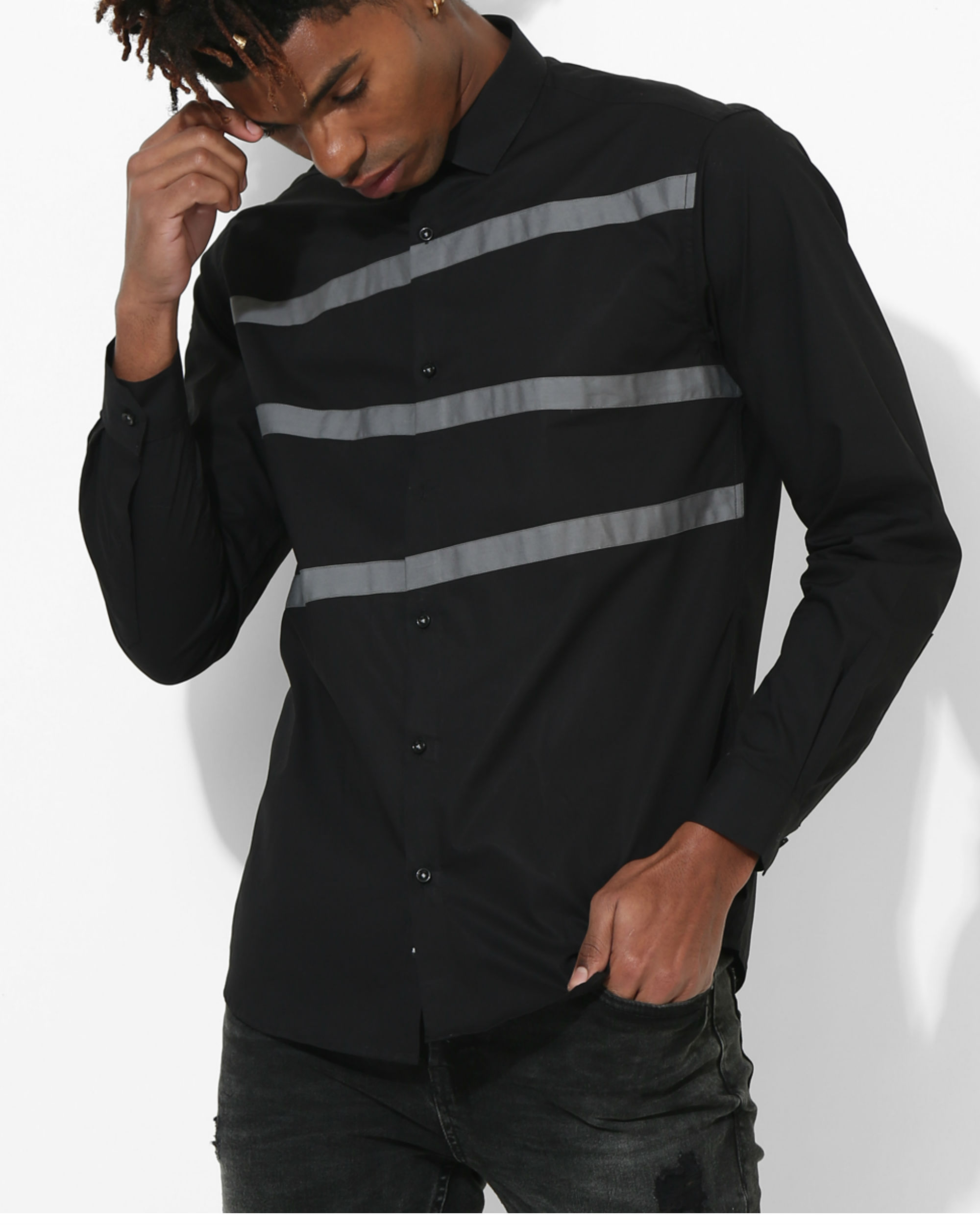 Panel Black Three Stripes shirt