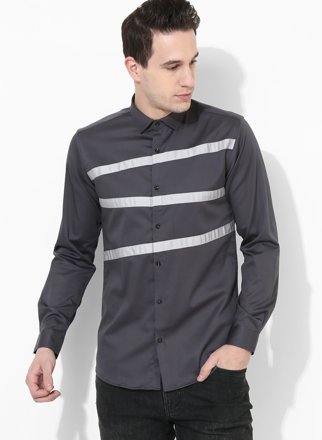 Panel Grey Three Stripes shirt