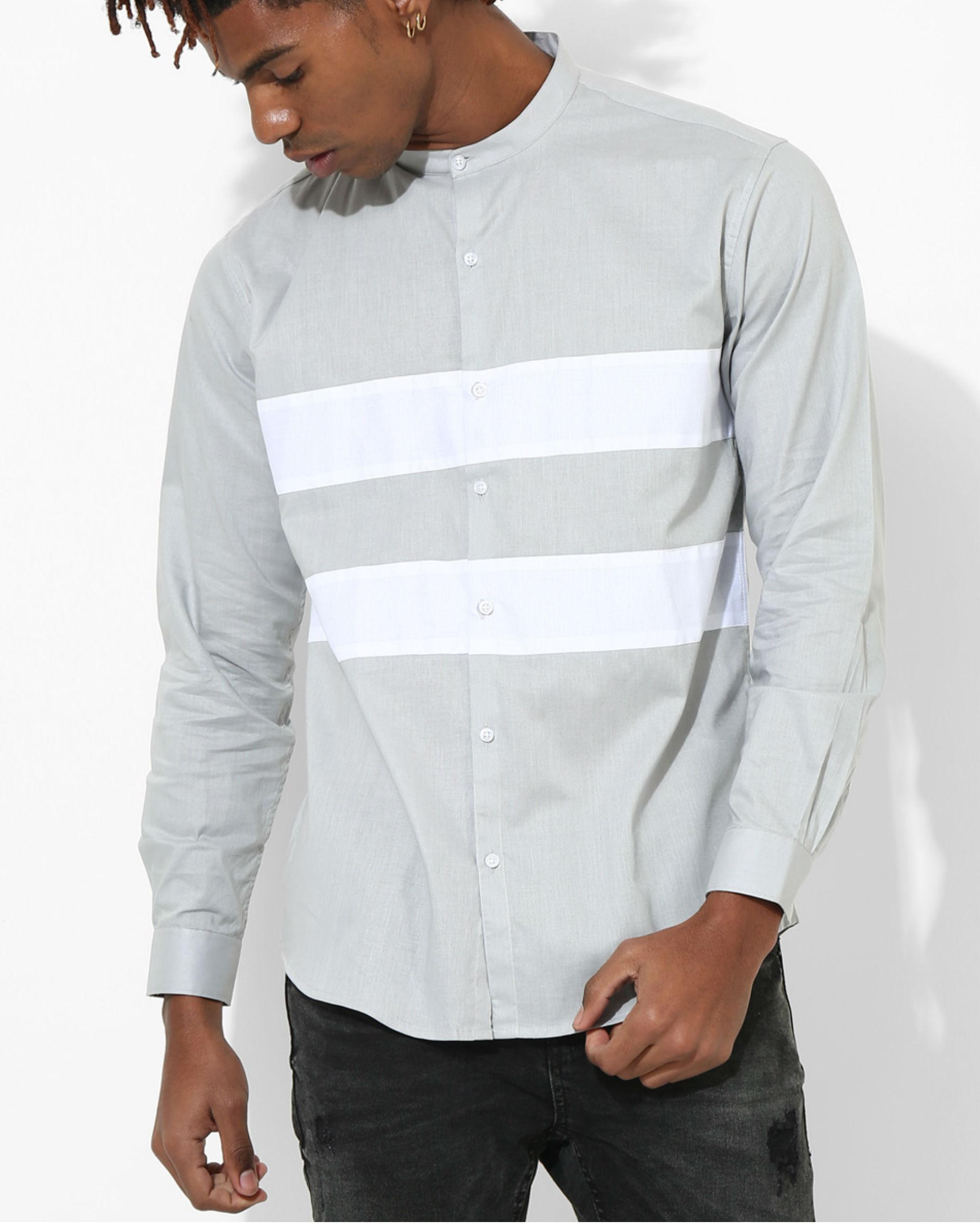 Light Grey Two Stripe shirt