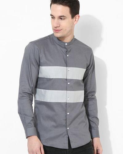 Shades Of Grey Stripe Shirt