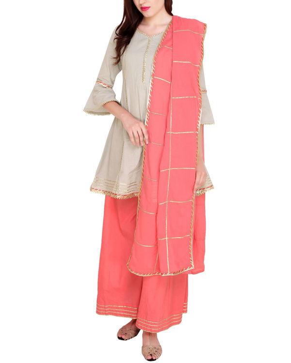 Grey and pink tunic set