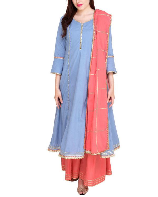 Blue and pink princess tunic set