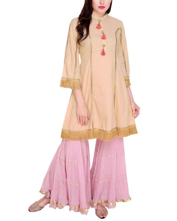 Nude pink princess tunic set