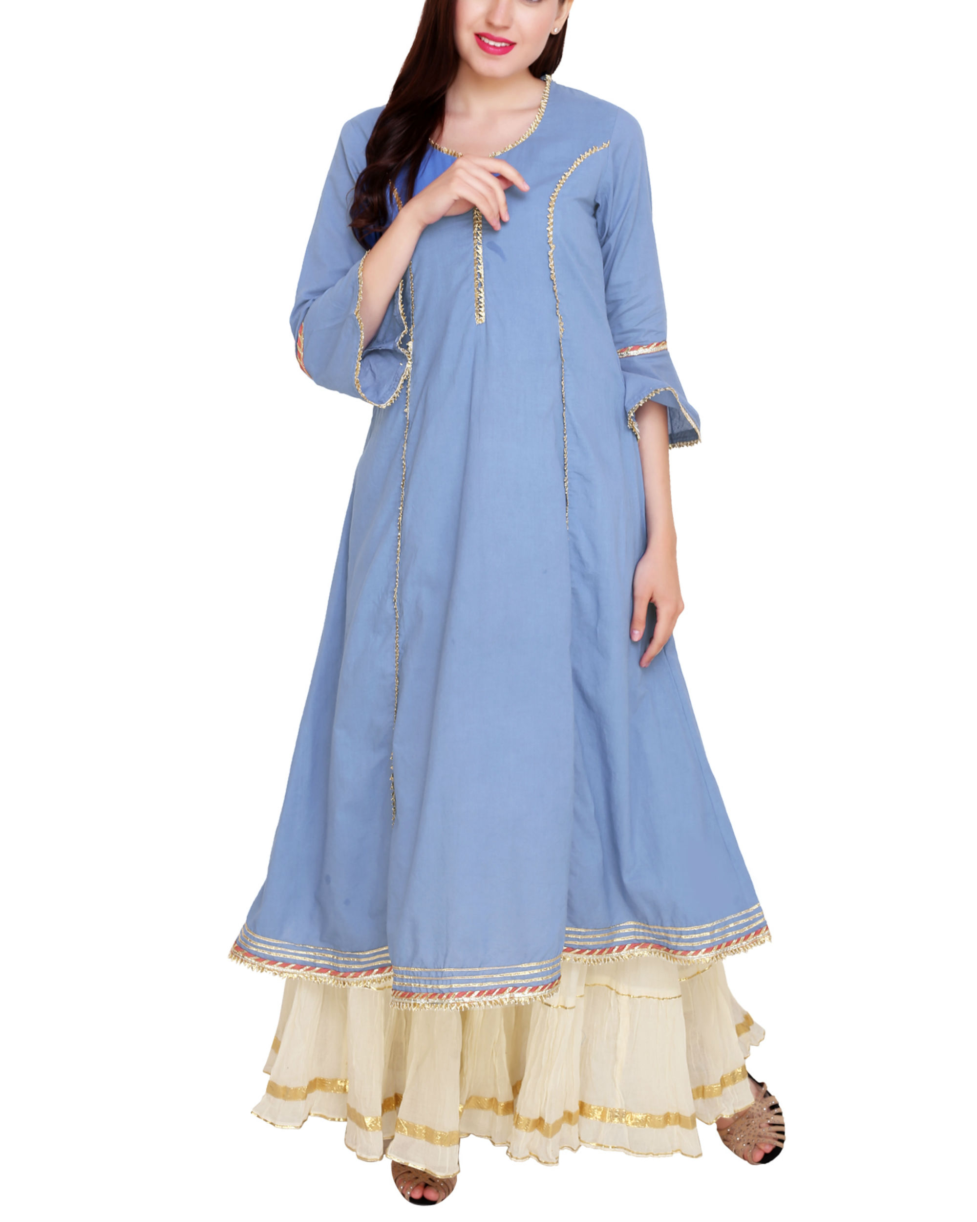 Blue princess tunic set