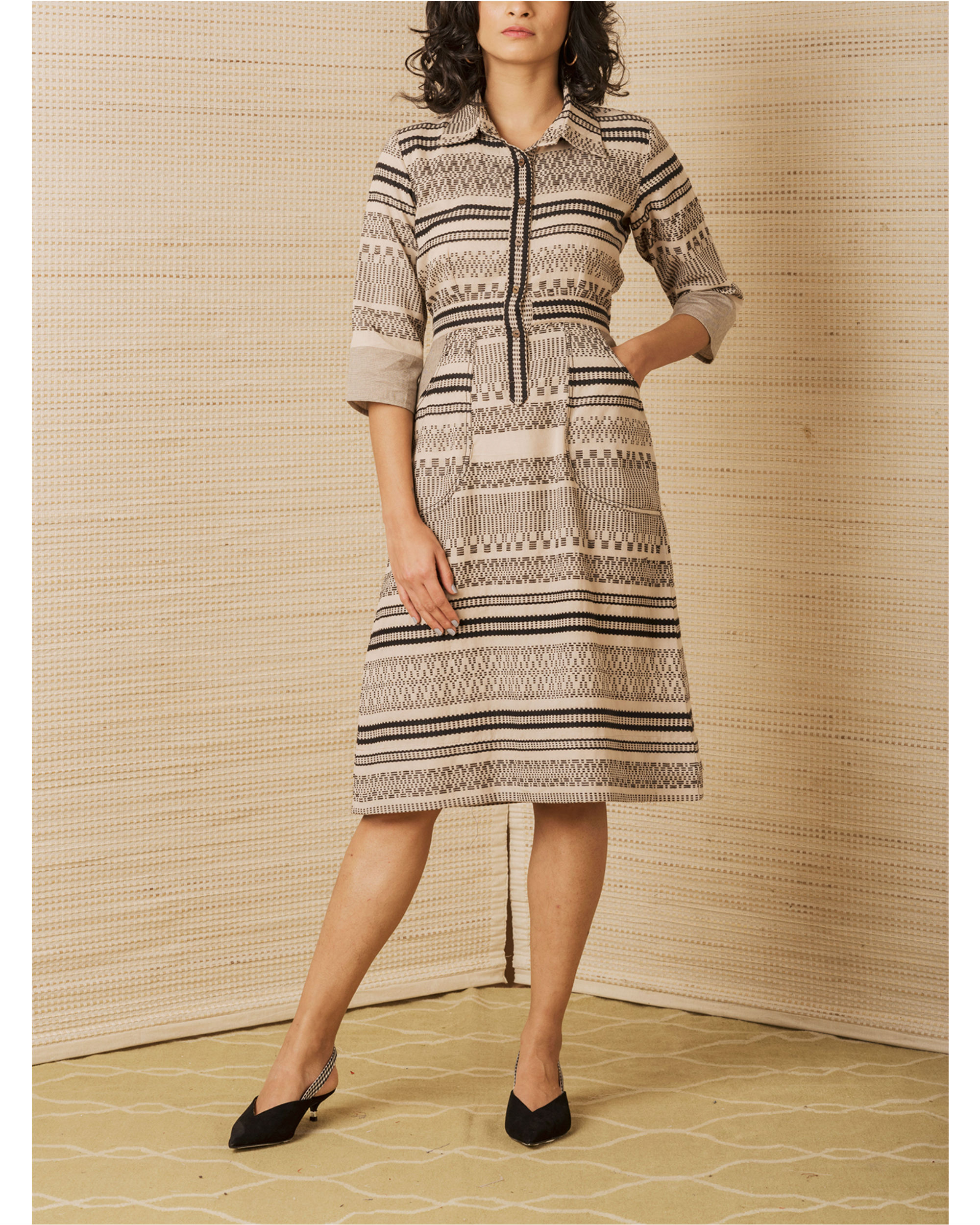 Luxe woven shirt dress