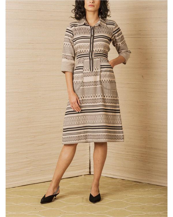 Luxe woven shirt dress
