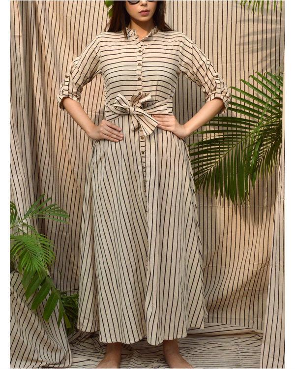 Off-white striped shirt dress