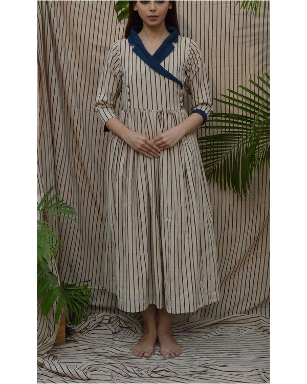 Off white coat maxi dress