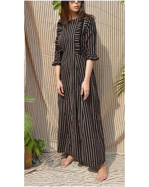 Black frill yoke dress