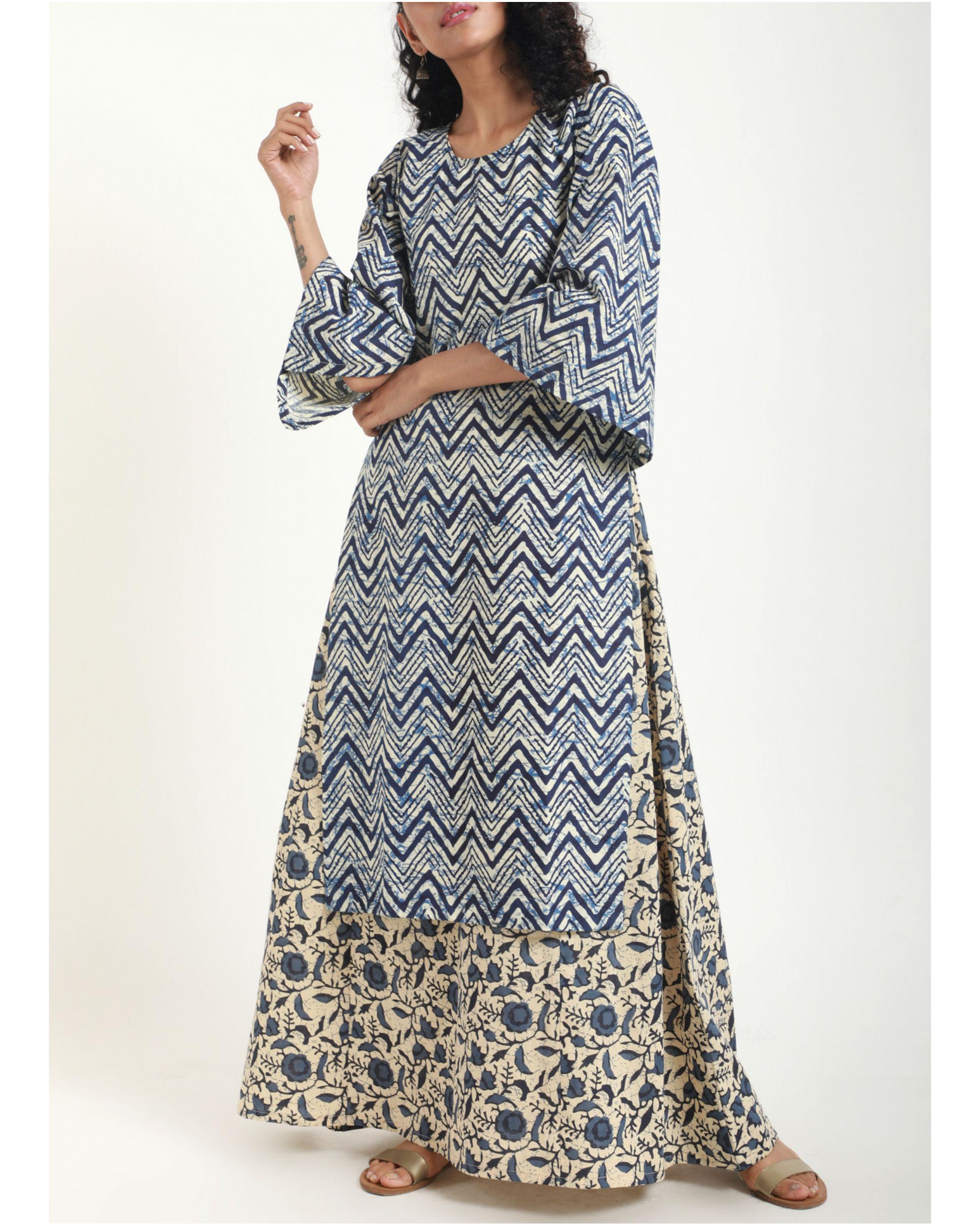 ce1a34123c Blue Chevron Kurta Dress by trueBrowns   The Secret Label