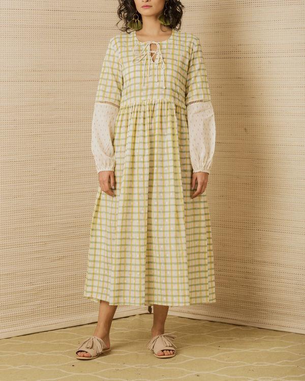 Hand Block Peasant Dress