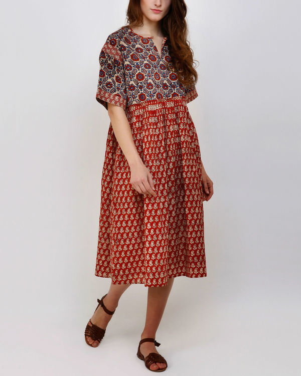 Red Jhabba Dress