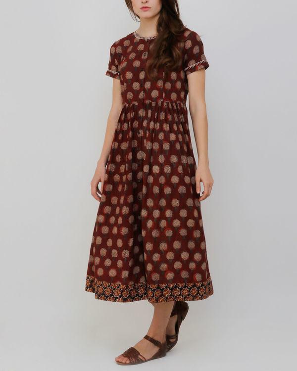 Rust Gambla Buti Dress