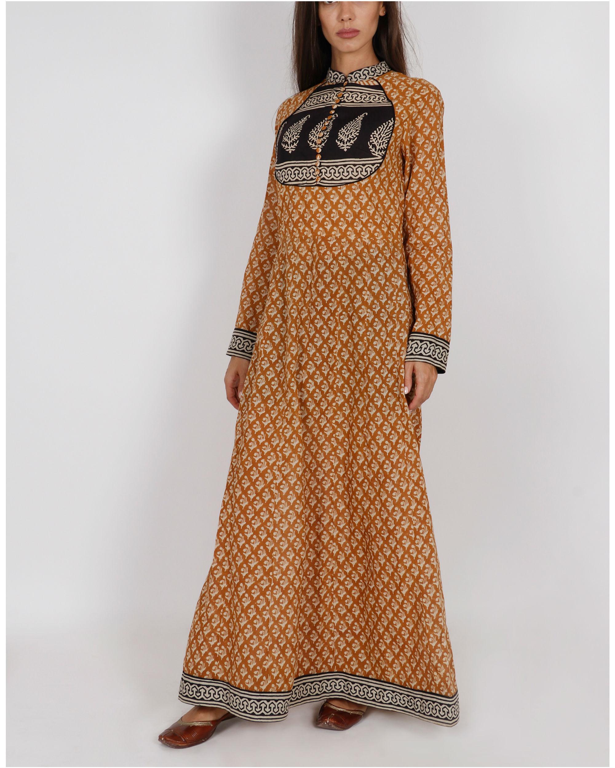Mustard Yellow Kalidar Dress
