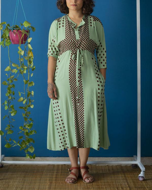 Drawstring Mint Dress