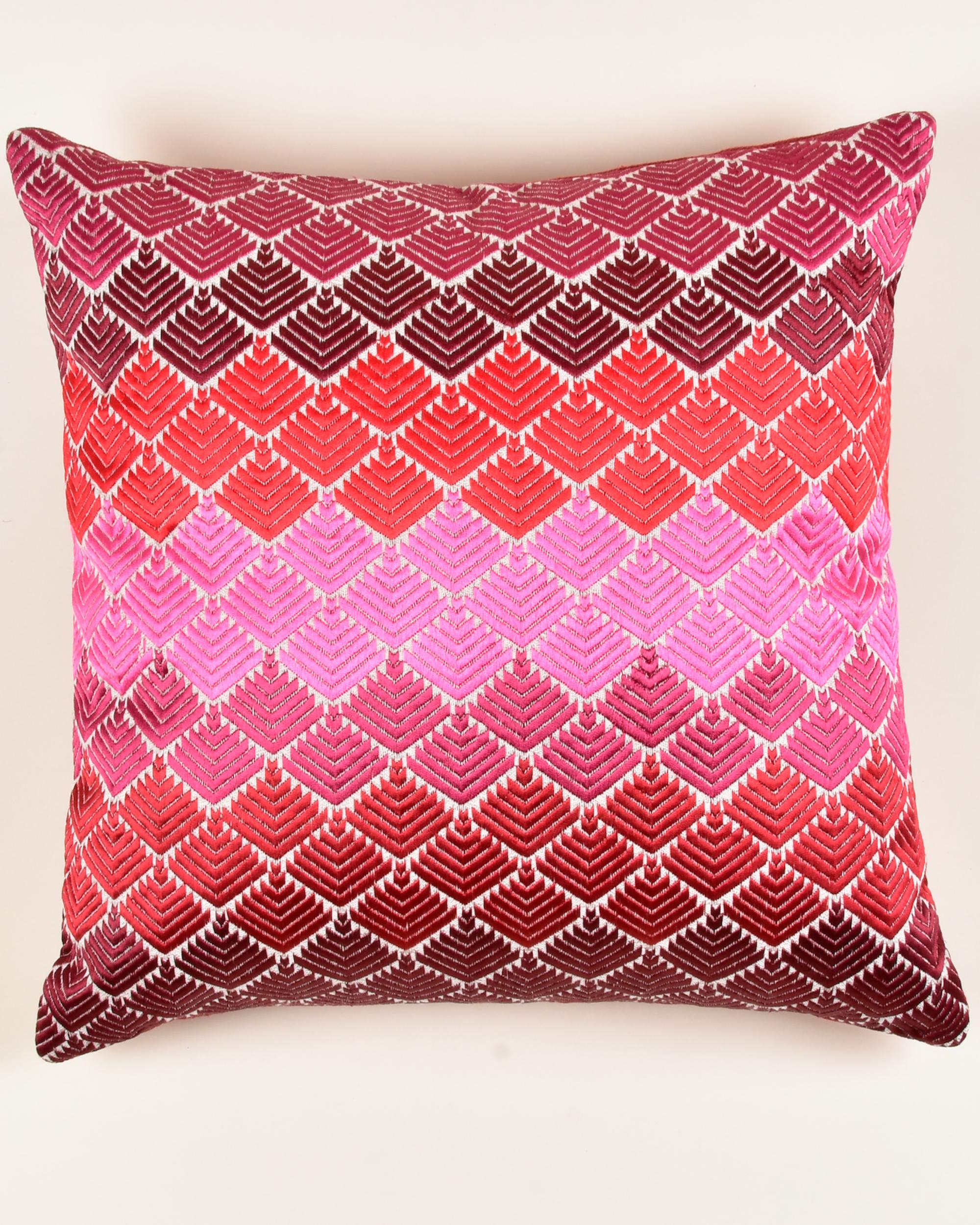 Faridkot phulkari cushion cover