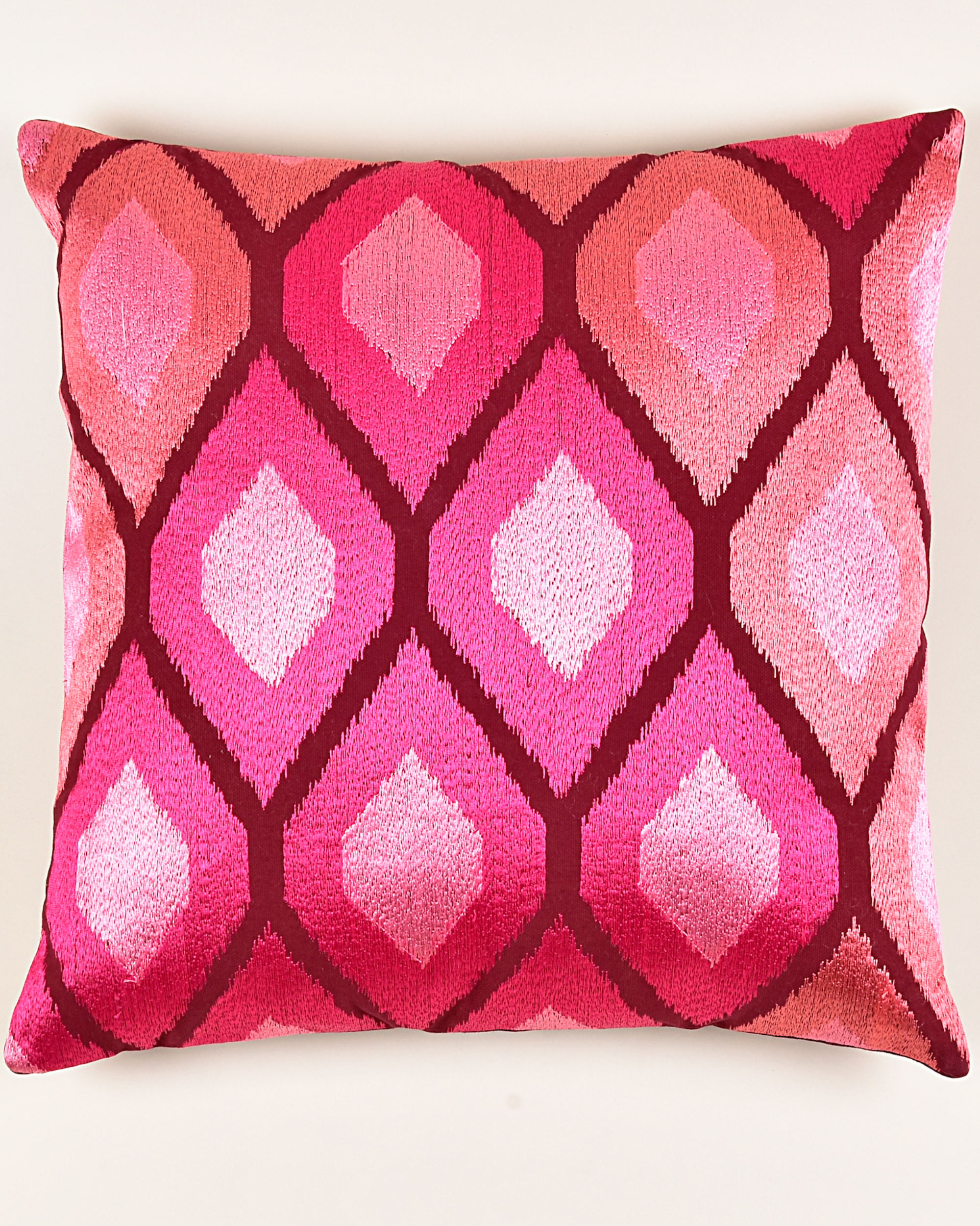 Khiva red cotton cushion cover