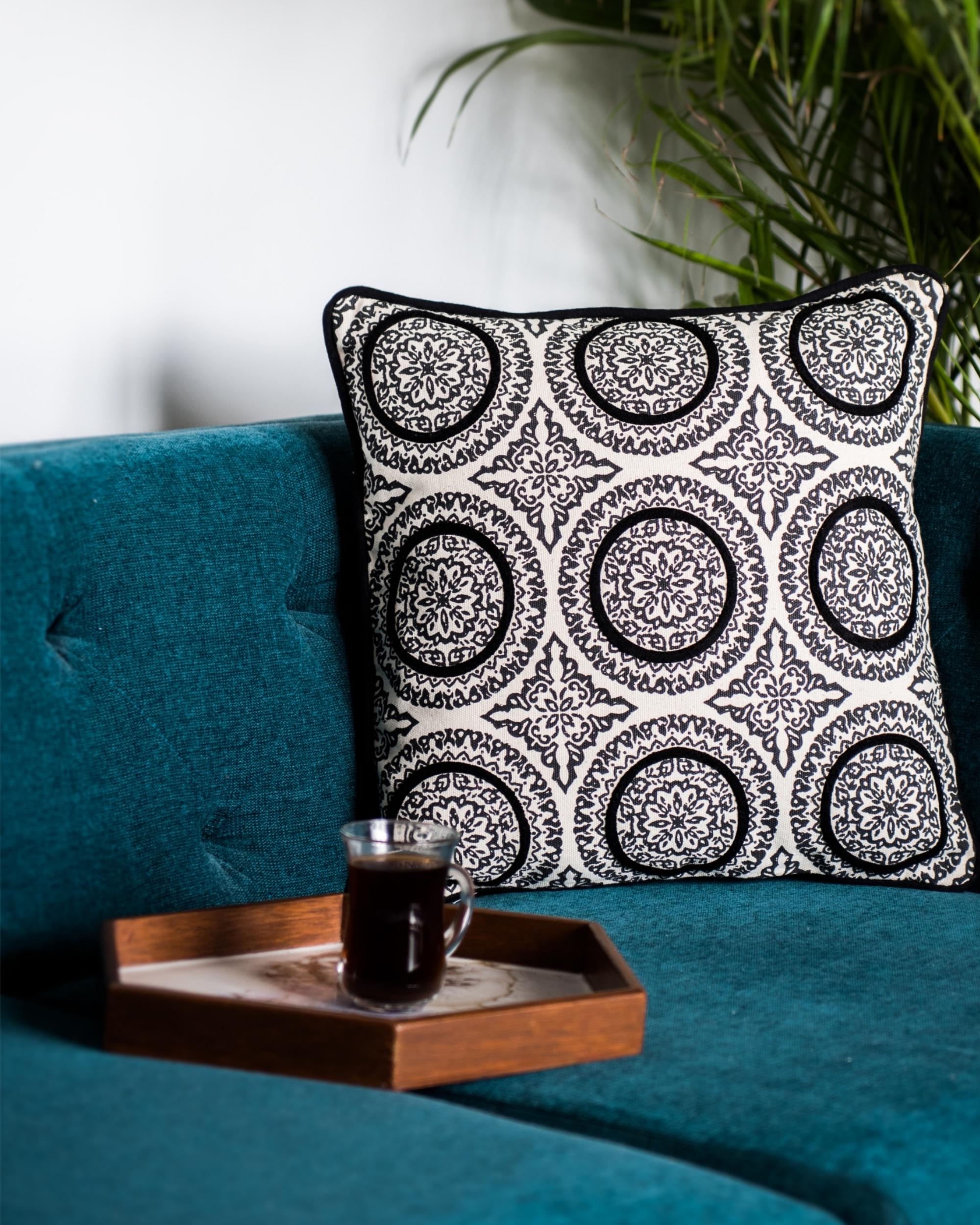 Denmark circles cushion cover