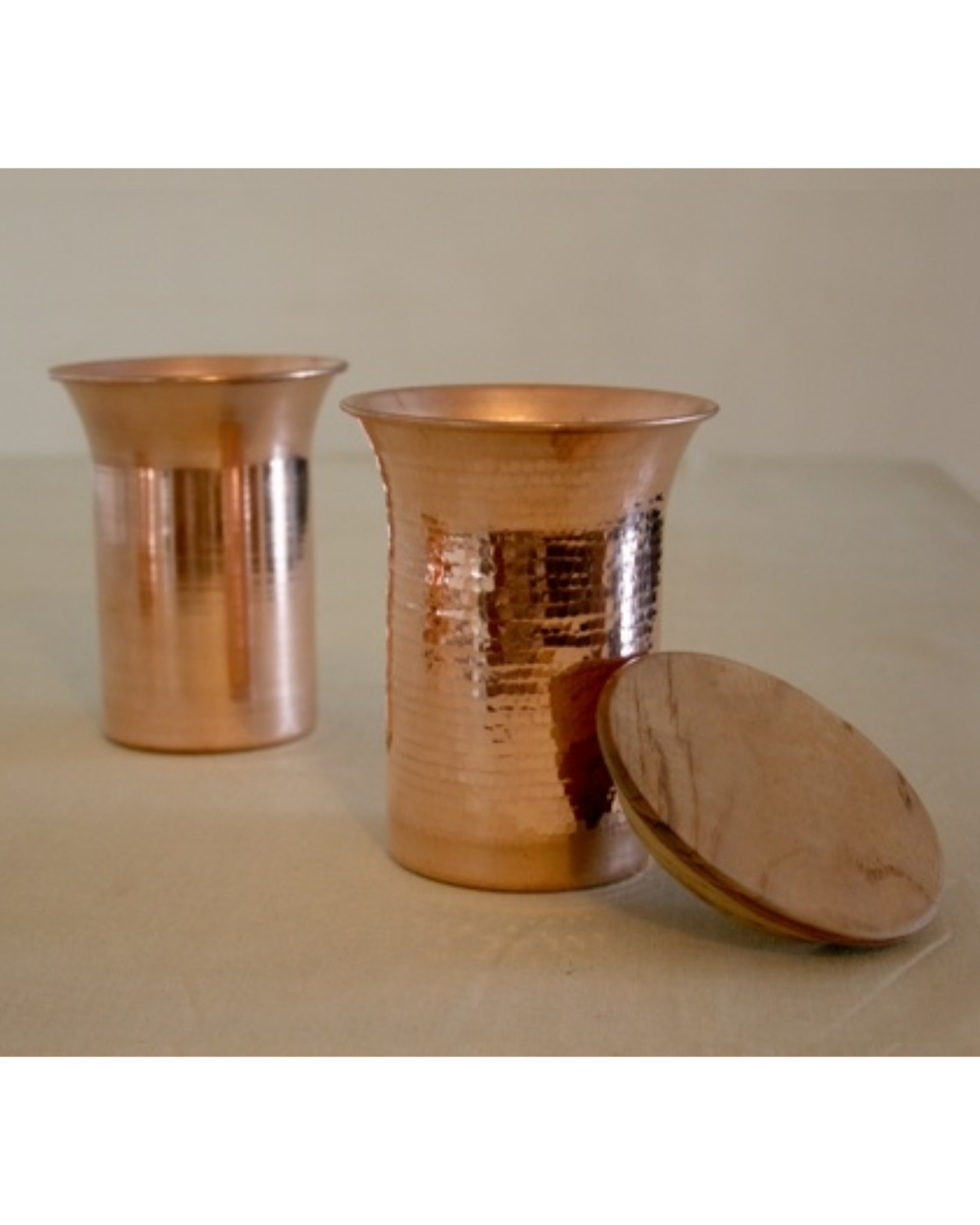 Copper desktop carafe