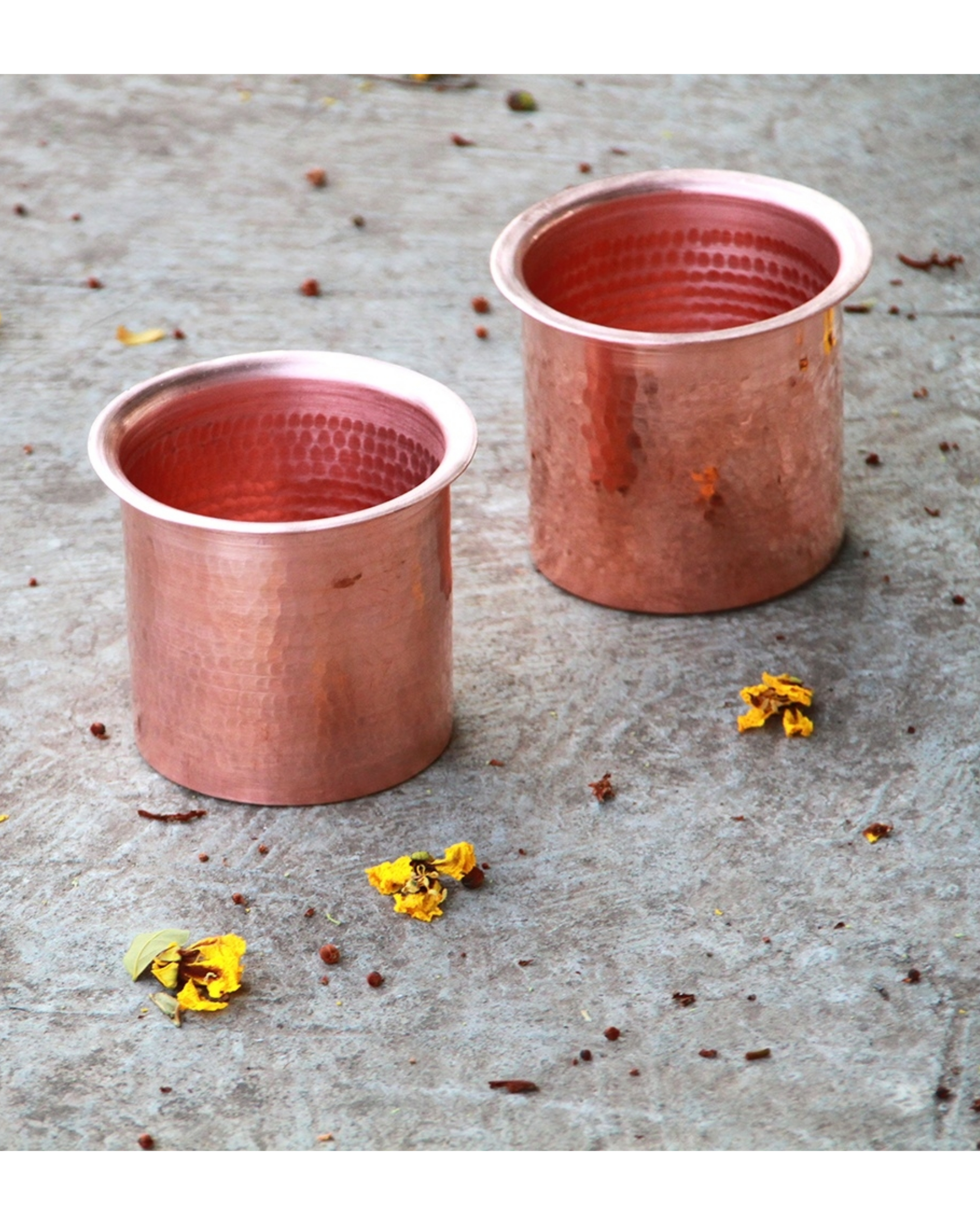 Copper linear tumblers - set of two