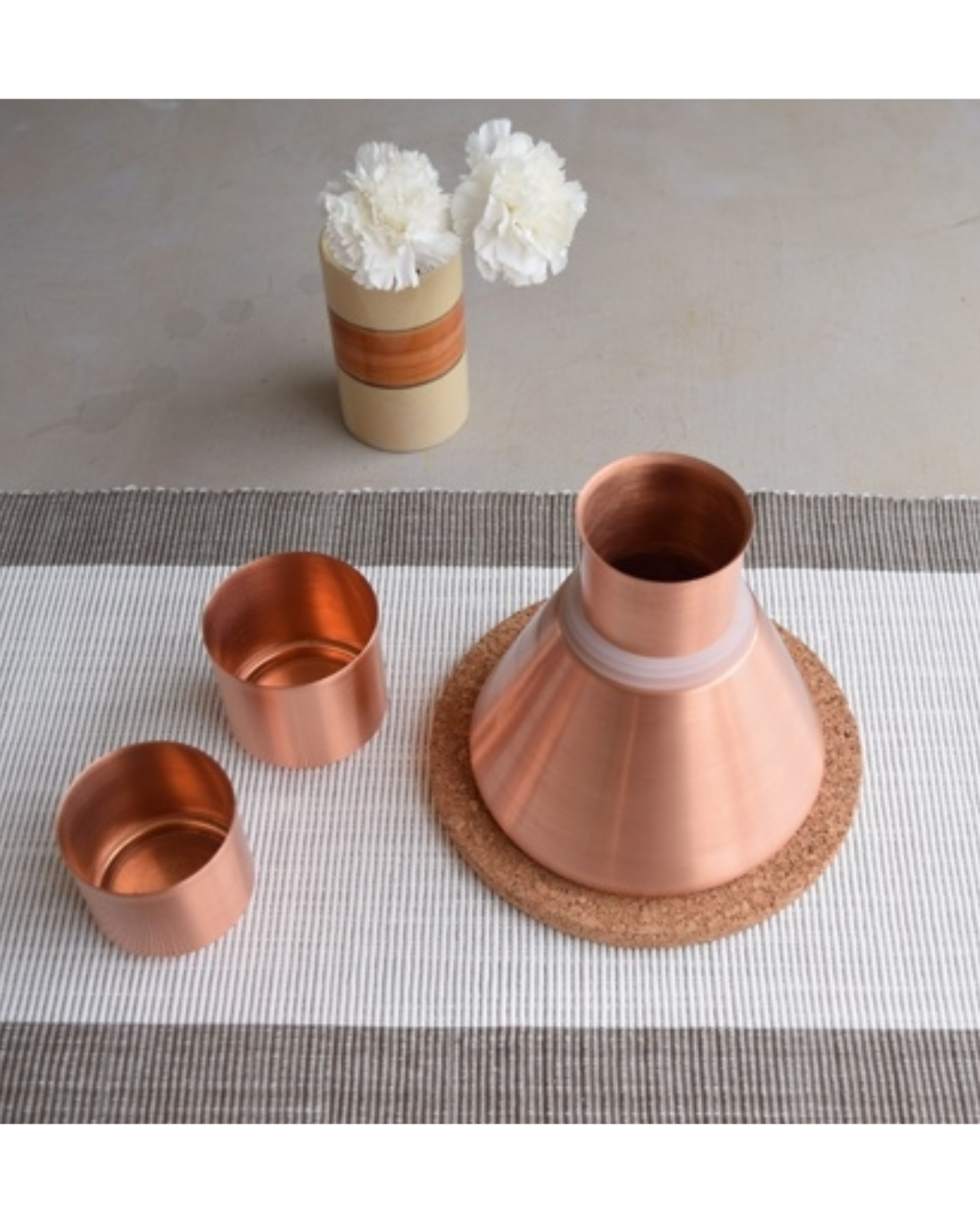 Copper stout carafe
