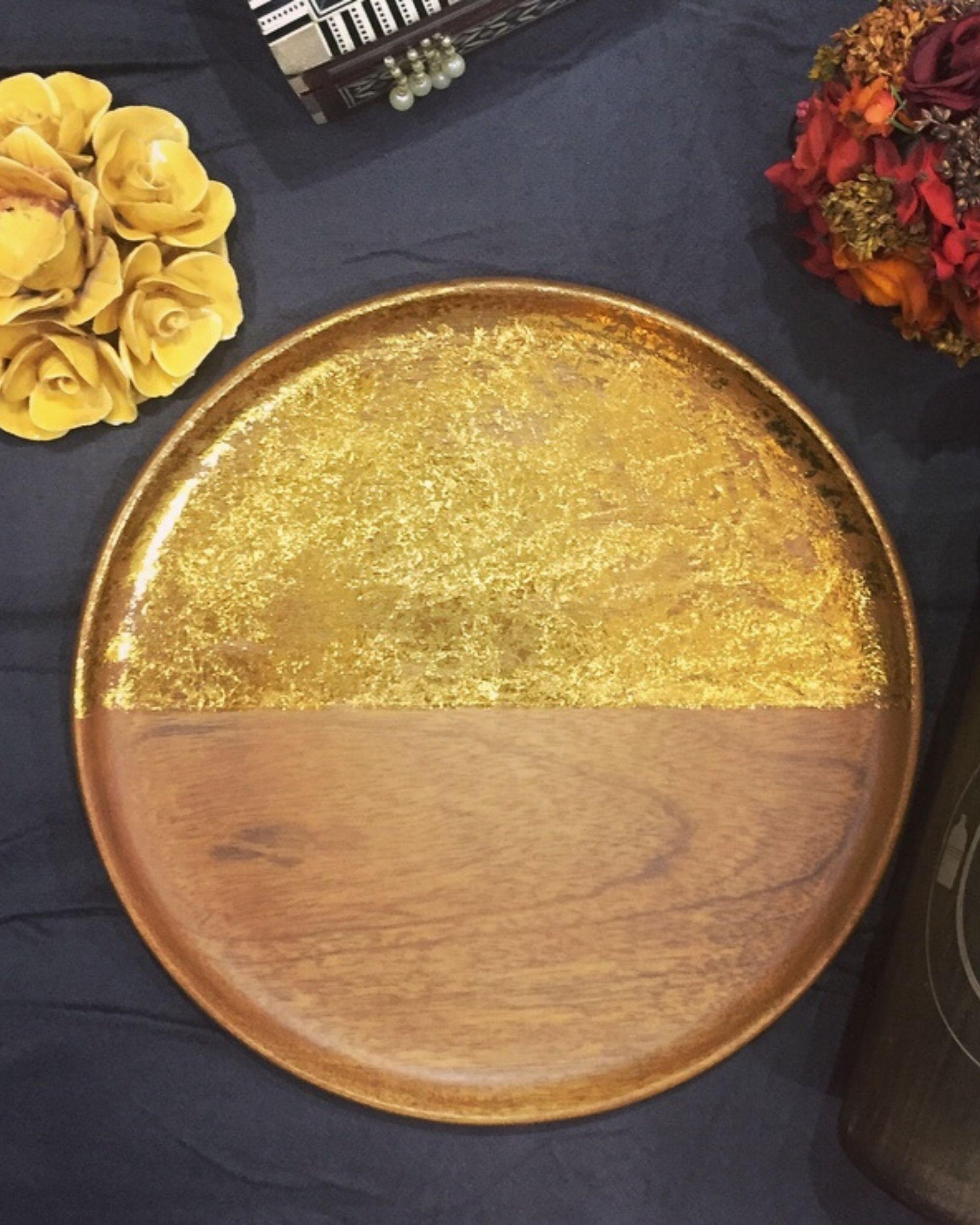 Golden multipurpose small platter