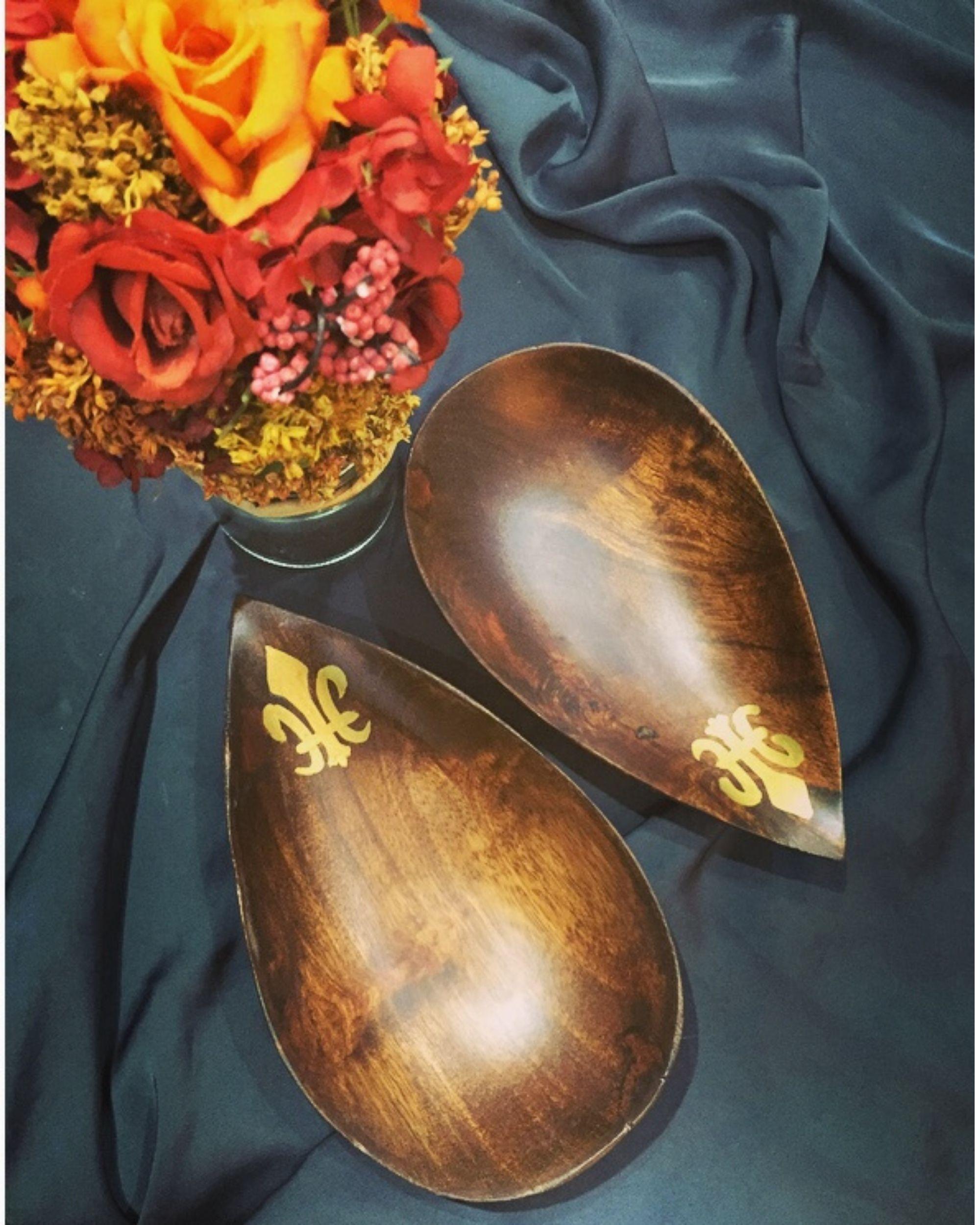 Fleur-de-lis bowls- Set Of Two