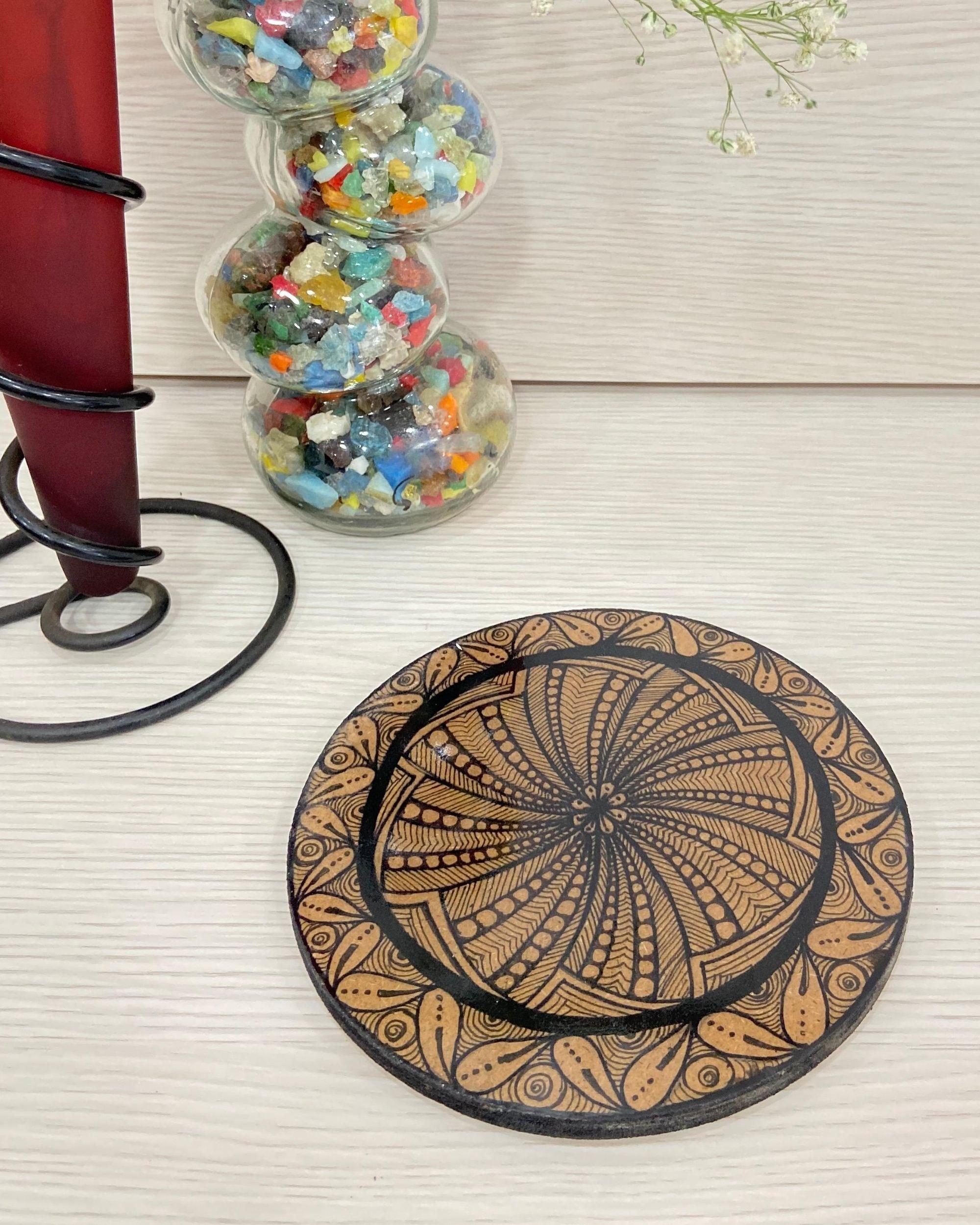 Mandala motif hot plate
