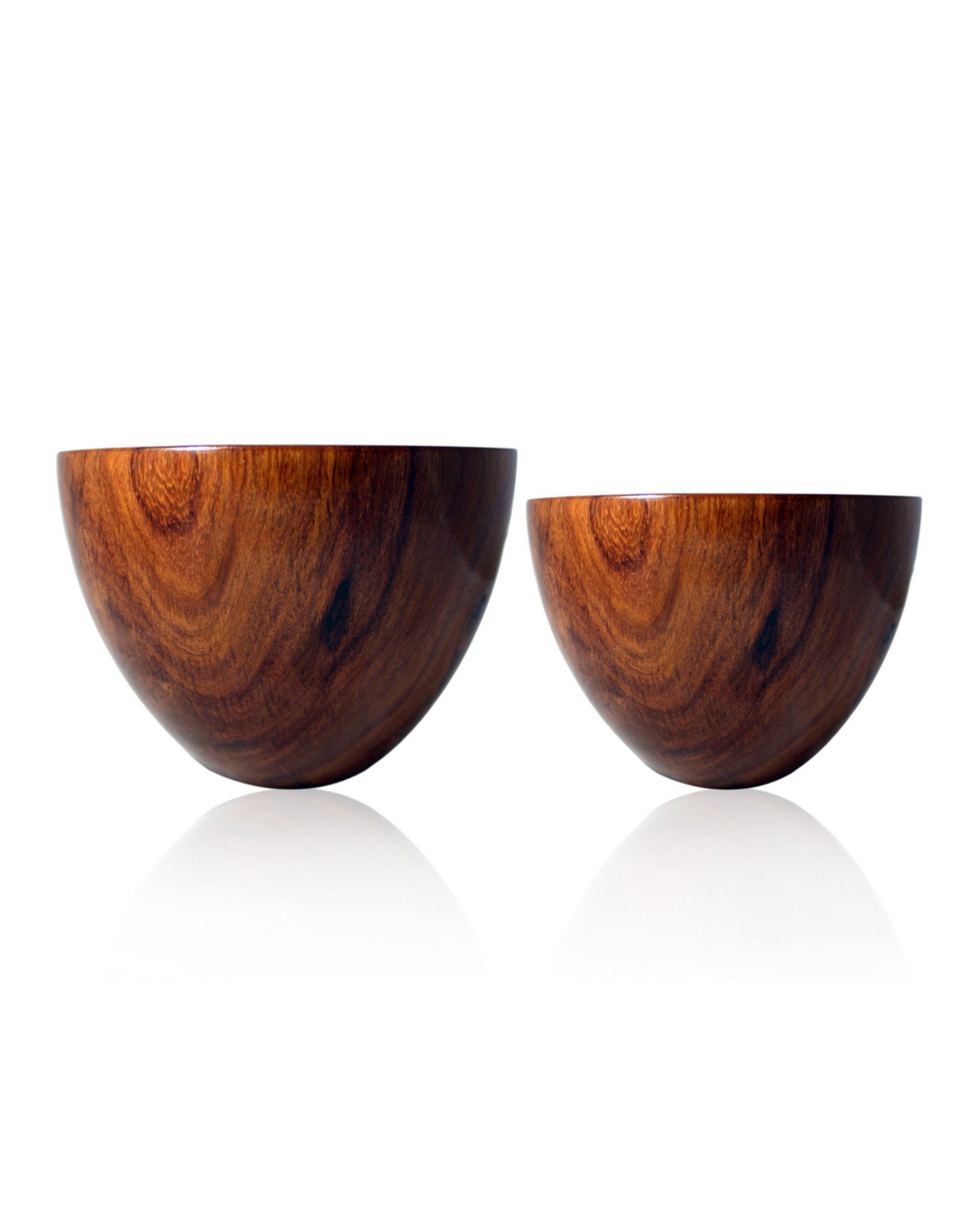 Oval rosewood bowls - Set Of Two