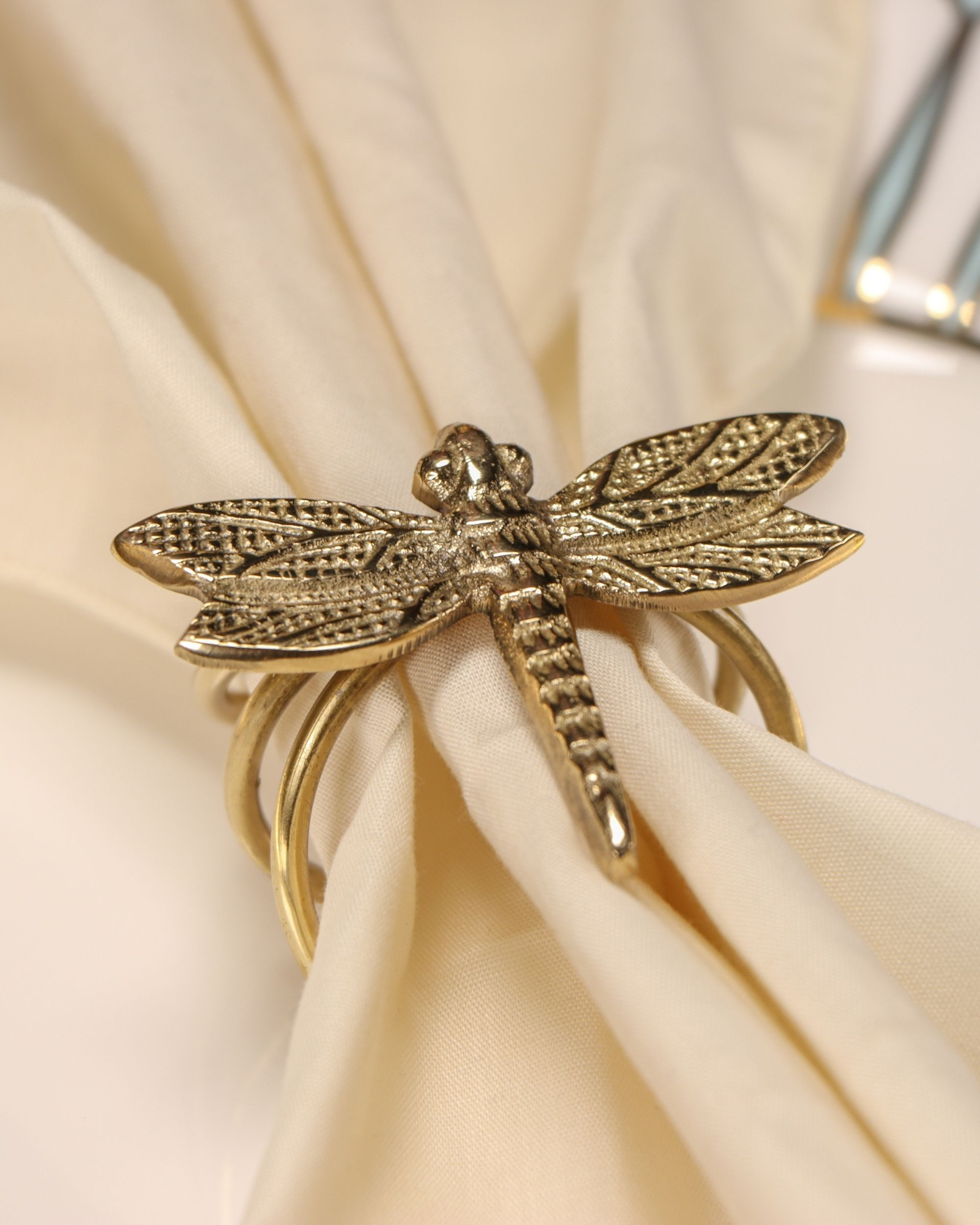 Vintage dragonfly napkin rings - Set Of Four