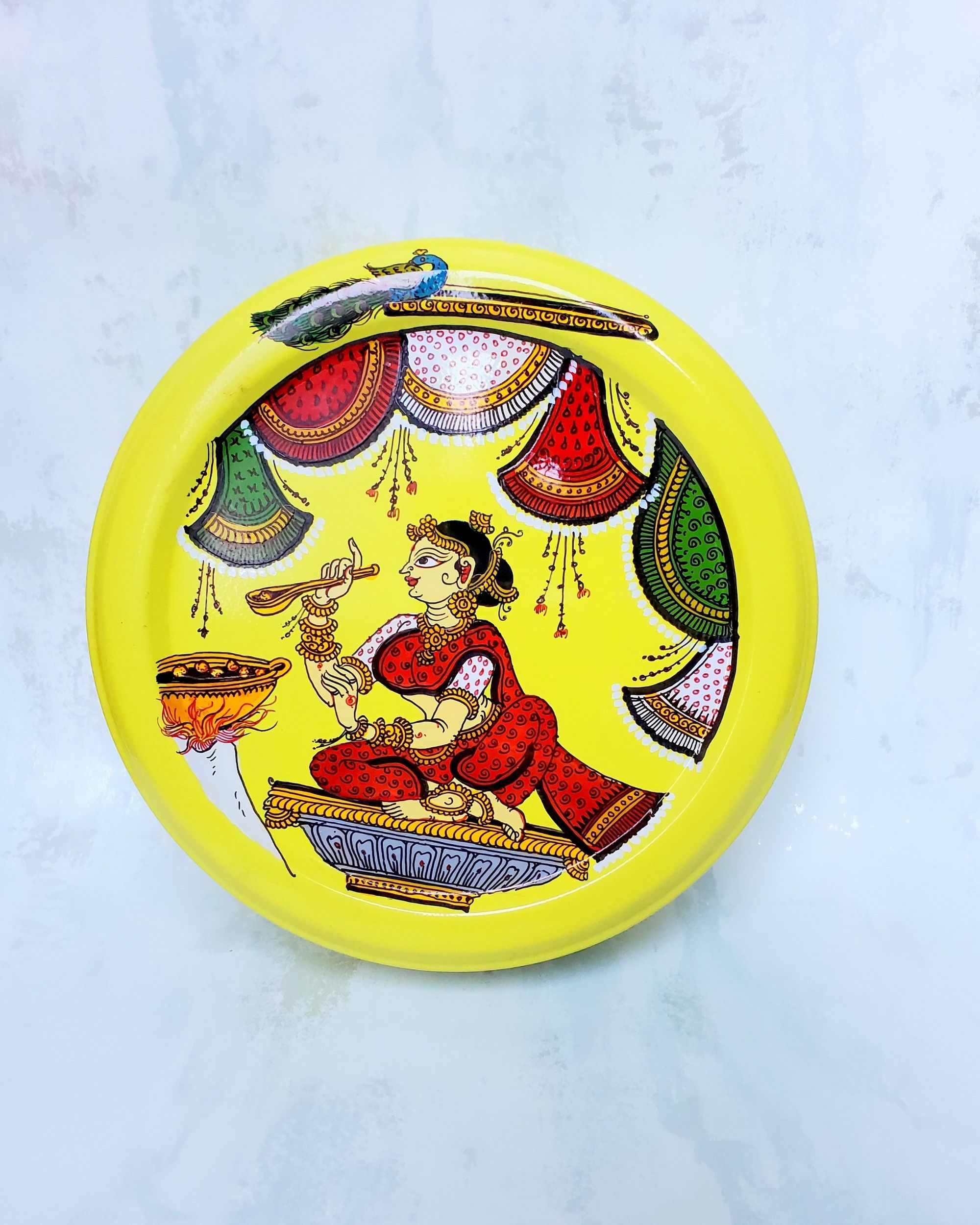 Pattachitra hand painted spice box set