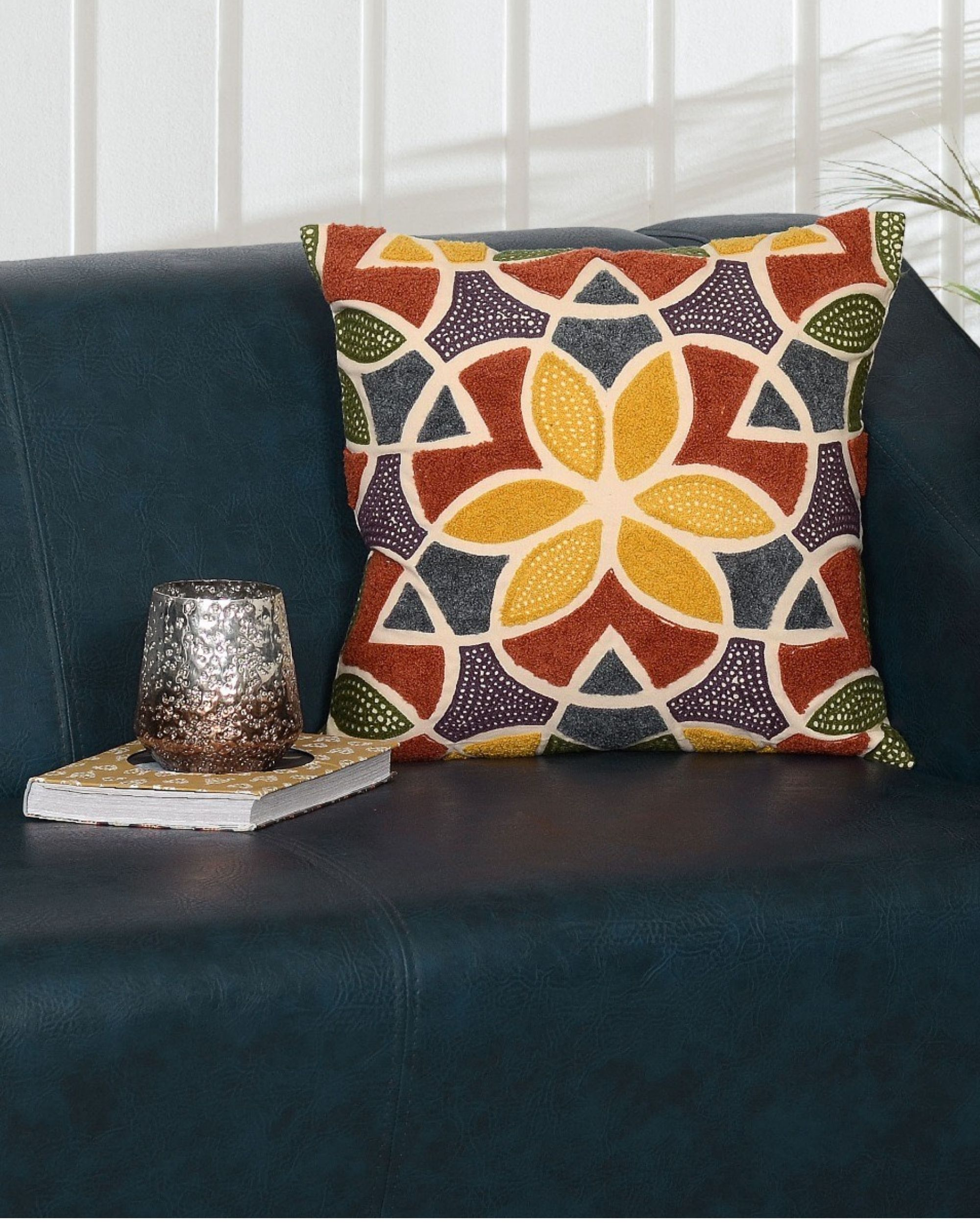 Tuscan geometric cushion cover