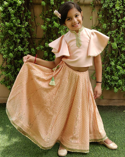 Peach Top And Skirt
