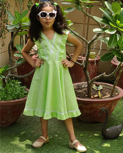 Green Flared Frock