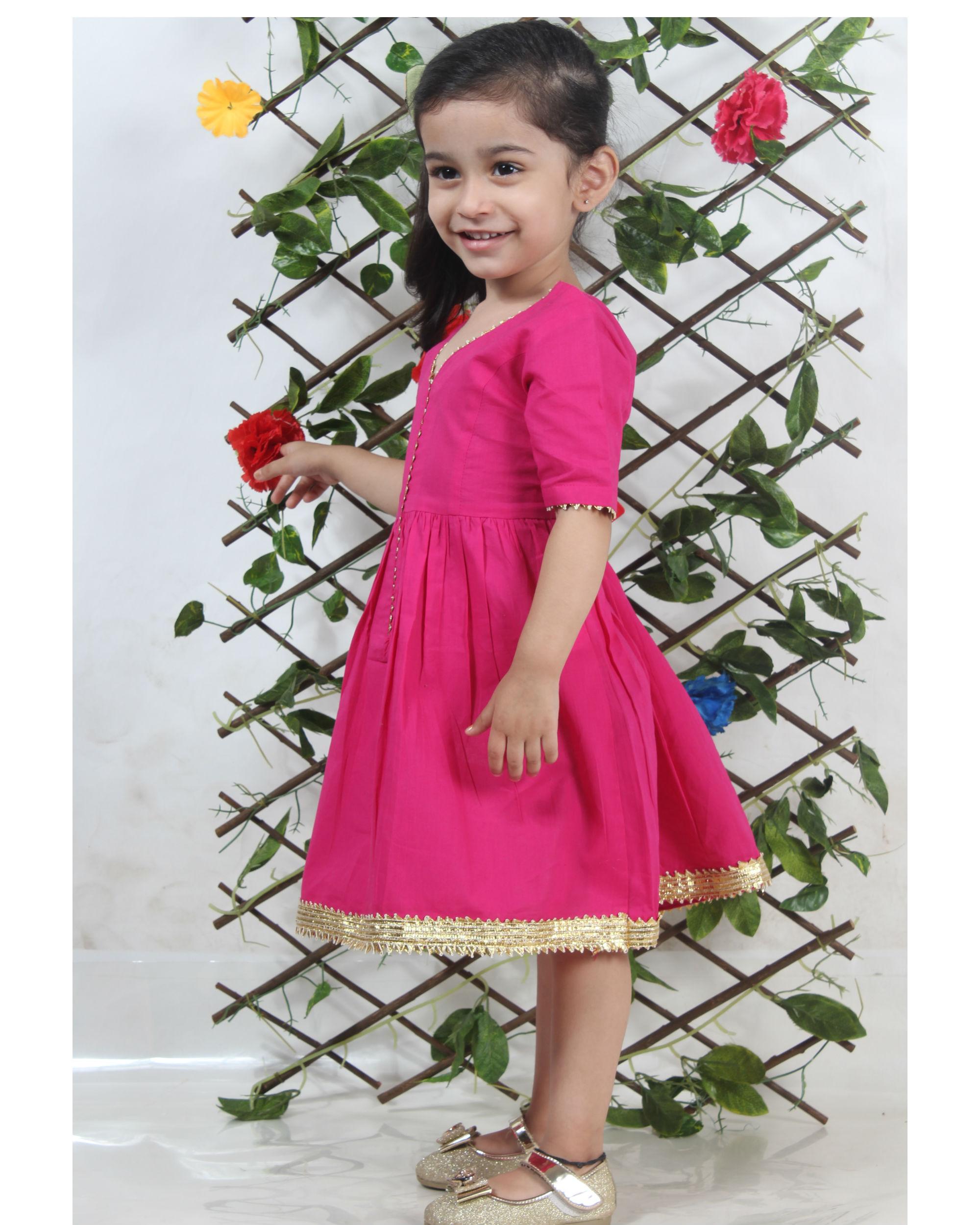 Pink festive dress