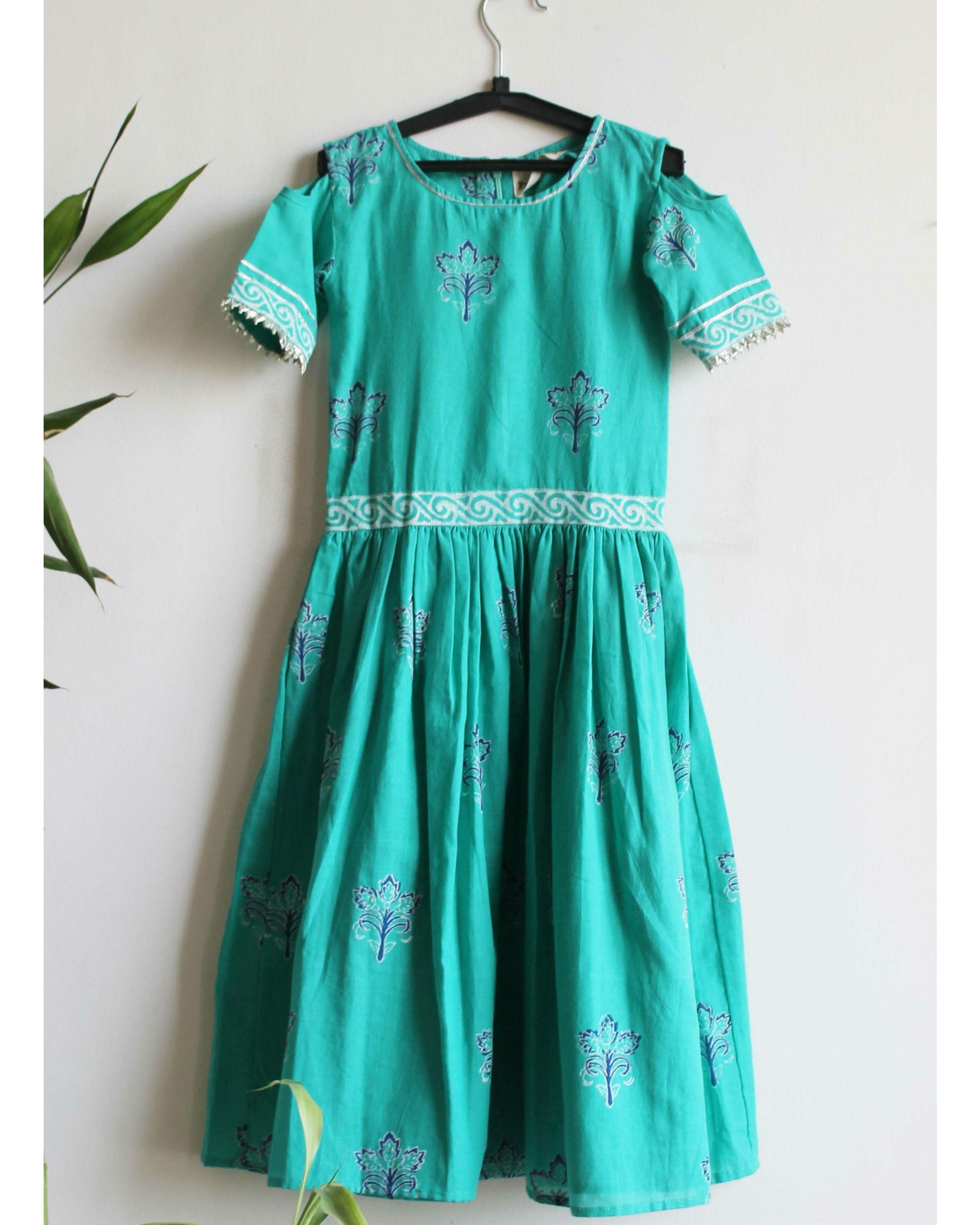 Blue lily dress