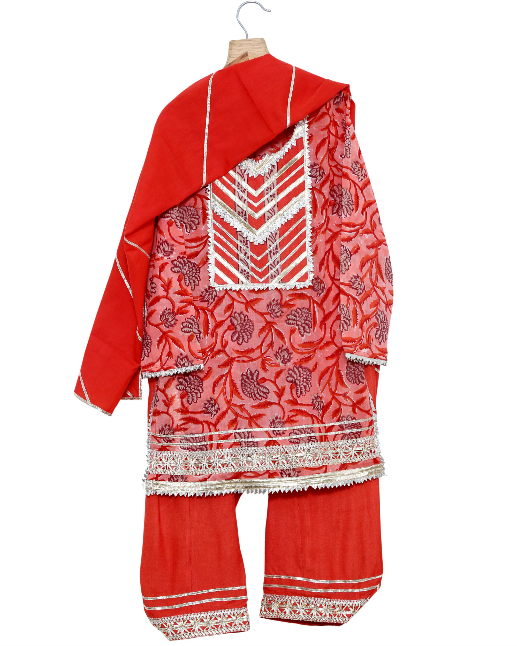 Red gota kurta salwaar set