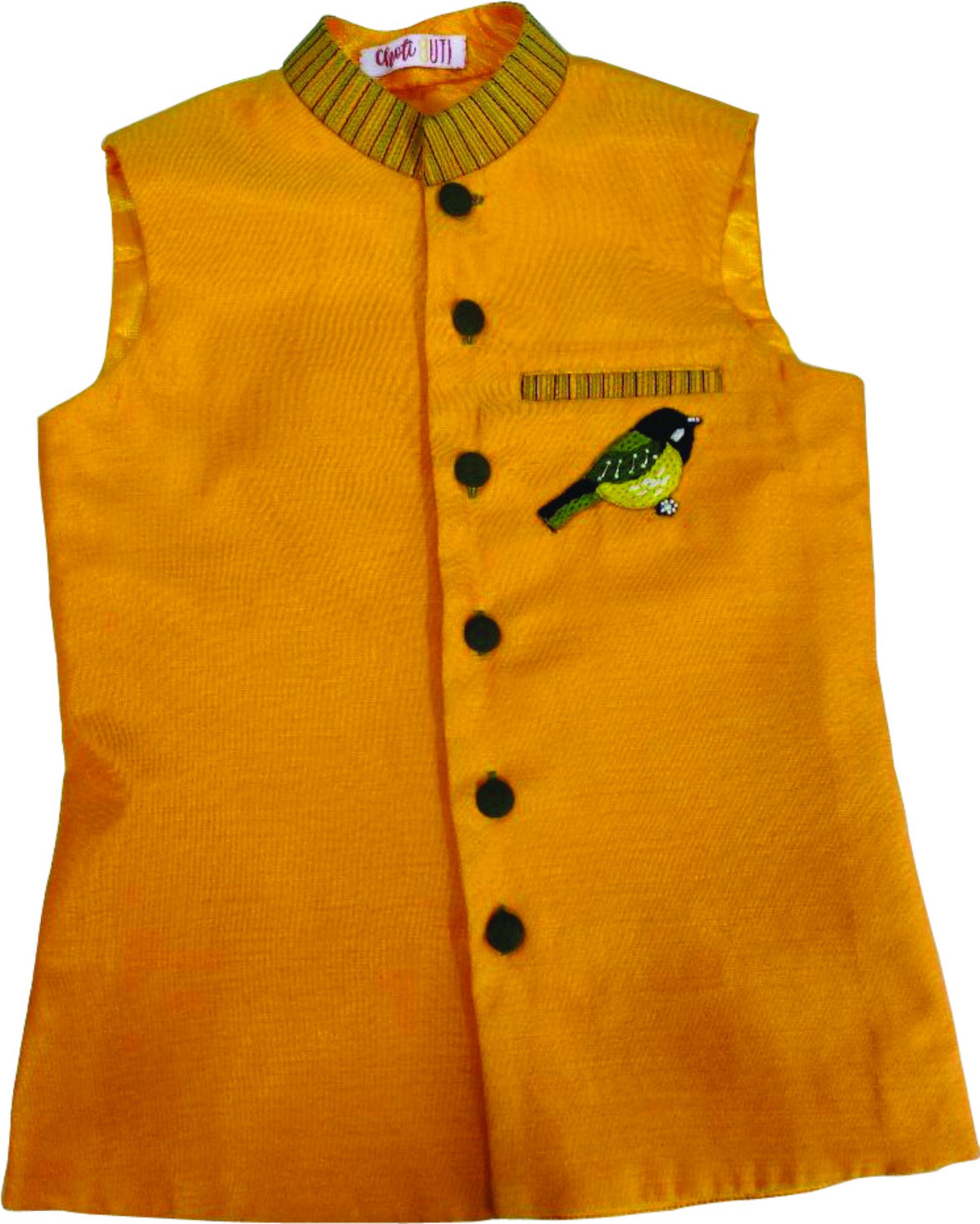 Bandh gala mustard jacket